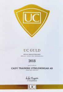 UC guld intyg 2018