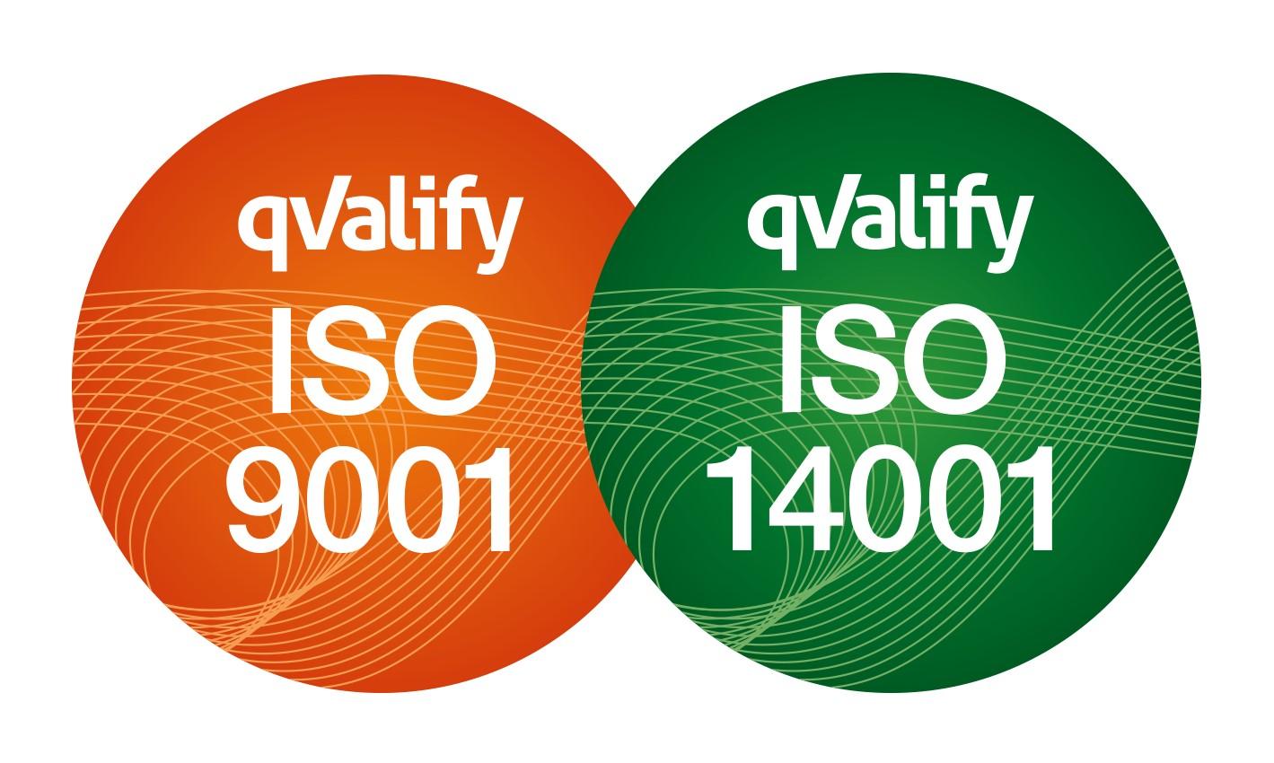 Blogg ISO 9001 och 14001 logga
