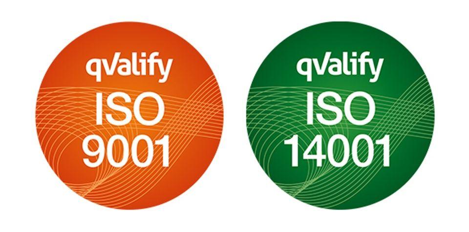 ISO 9001 14001 logga 2